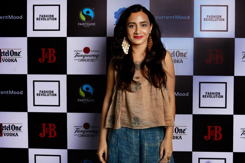 Auritra Ghosh at currentMood's 2nd Anniversary issue launch party at The Little Door, Bombay. in collaboration with Fashion Revolution