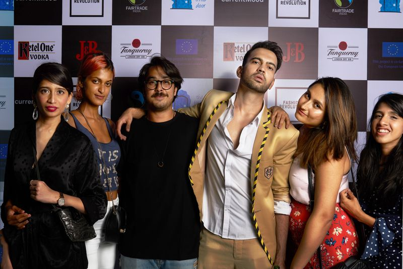 Hasnain Patel, Sanaa Khan, Arsh Sayed, Khyati Busa at currentMood's 2nd Anniversary issue launch party at the little door, bandra. in collaboration with Fashion Revolution