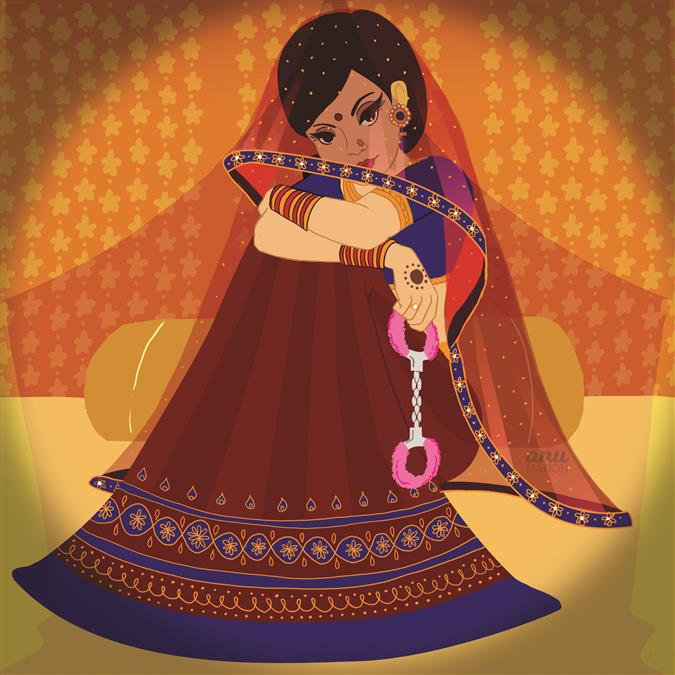 Vancouver based illustrator, Anu Chouhan's take on the not so quintessential Indian bride