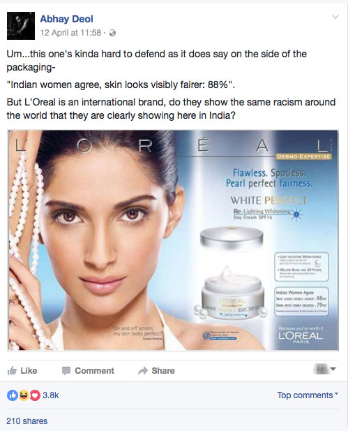 Abhay Deol talks about fairness creams in india and calls out bollywood celebrities who endorse these products