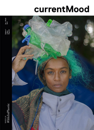 currentMood, an online Indian magazine shoots their 10th Issue, #lifeInPlastic in the Andaman and Nicobar Islands, using plastic waste found on the beaches as styling props.