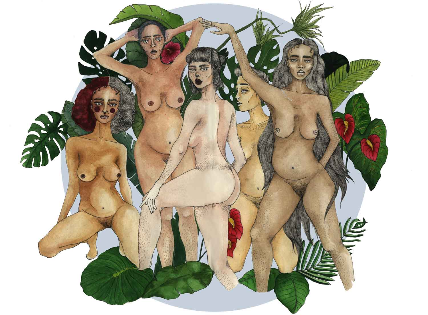 Sarah Naqvi's artwork revealing diversity and embraces the skin that we're born with.