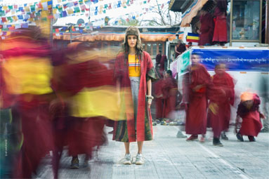 currentMood journey's through the ancient monasteries of Ladakh capturing the essence of tranquility in chaos via a fashion editorial.